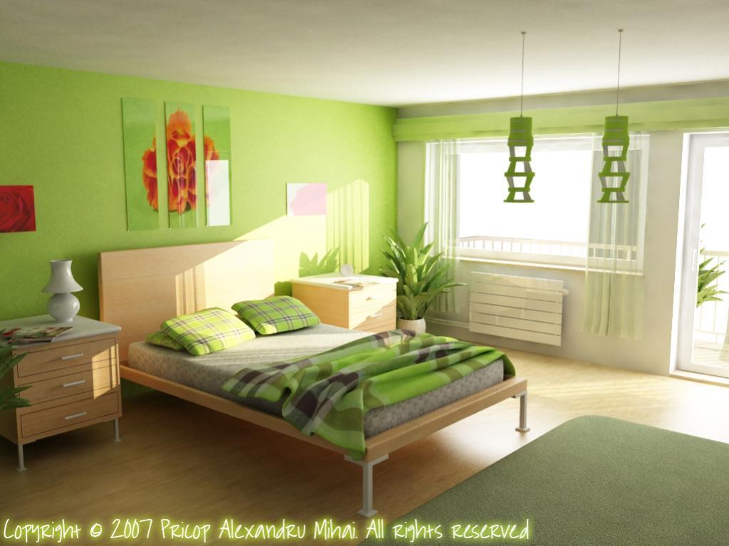 غرفة نوم جدرانها تفاحي وش يناسبها   عالم حواء